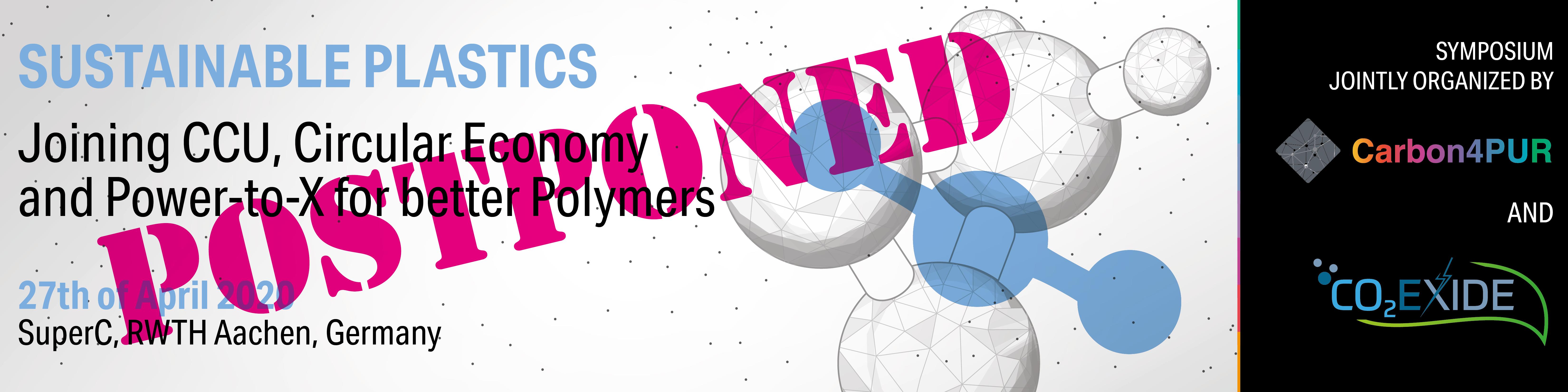 Sustainable Plastics Symposium Postponed to September 2020 in Brussels